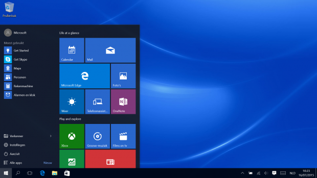 Windows 10 Startbalk